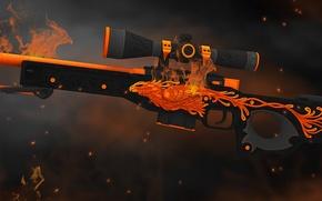 Картинка пламя, птица, дым, искра, жар, phoenix, раскрас, awp, workshop, cs go, gunsmith