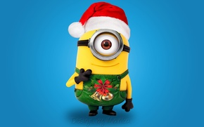 Картинка Новый Год, Рождество, Санта, Christmas, мульт, Xmas, cute, santa, миньон, minion, Design by Marika