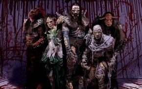Картинка heavy metal, costumes of demons, Lordi