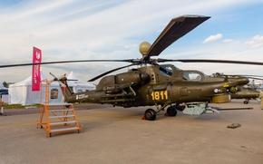 Картинка ВВС, России, Вертолёт, Ударный, Ми-28, МАКС, 2015, MAKS, Ночной Охотник