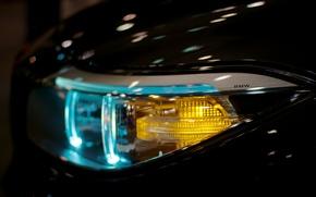 Картинка отражение, логотип, Фара, BMW, поворотник