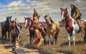 Картинка индейцы, John Fawcett, Warm Coals