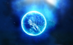 Картинка звезды, облака, туманность, планеты, свечение, Космос, hdr, space