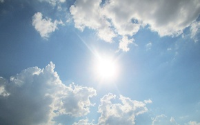 Картинка небо, солнце, тучи