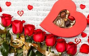 Картинка цветы, розы, valentine's day