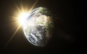 Картинка sun, planet earth, planet