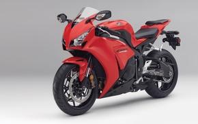 Картинка красный, мотоцикл, honda, 2012, хонда, cbr1000