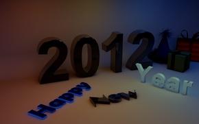 Картинка надпись, цифры, подарки, 2012, happy, года, new, year, счастлмвого, нового