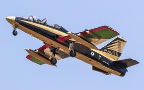 Картинка самолёт, итальянский, учебно-тренировочный, MB-339, лёгкий штурмовик, Aermacchi