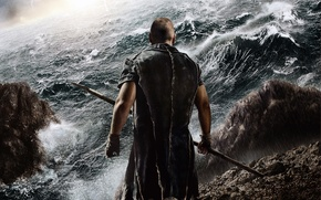 Картинка Action, Fantasy, Clouds, Sky, Lightning, Wallpaper, Russell Crowe, Sea, Weapons, Male, Fog, Man, Movie, Paramount …