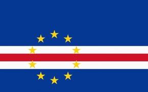 Картинка Звезды, Флаг, Горизонтально, Кабо-Верде, Cape Verde