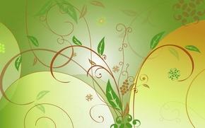 Обои листья, узор, вектор