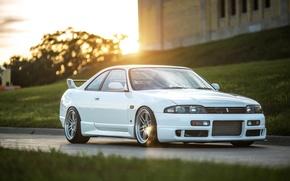 Картинка Nissan, white, Skyline, R33