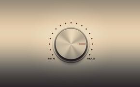 Картинка регулятор, min, громкости, max