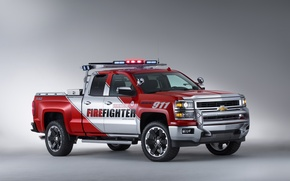 Обои chevrolet volunteer, firefighter, пикап