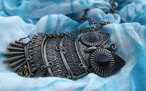 Картинка сова, кулон, украшение, цепочка