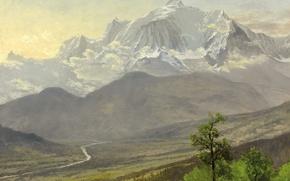 Картинка снег, пейзаж, горы, Монблан, Альберт Бирштадт