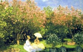 Картинка пейзаж, картина, Сад, Клод Моне