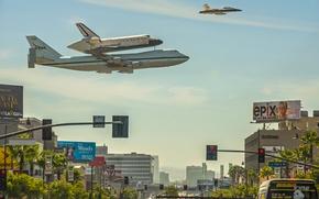 Обои шаттл, California, Endeavour, NASA, Лос-Анджелес, shuttle, Los Angeles, Калифорния