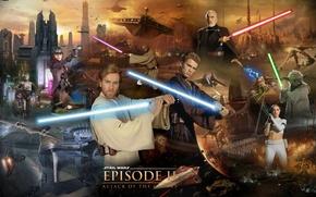 Картинка дроиды, Star Wars, Звездные войны, Йода, световой меч, lightsaber, магистр, Obi-Wan Kenobi, Оби-Ван Кеноби, Jango …