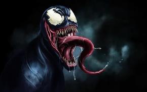 Картинка Black, Venom, Spider Man, tongue