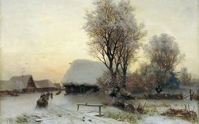 Картинка картина, Зимний вечер, Кондратенко