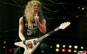 Картинка сцена, гитара, концерт, metal, жест, 80s, metallica, электрогитара, thrash, james hetfield