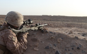 Обои united states marine corps, оружие, солдат