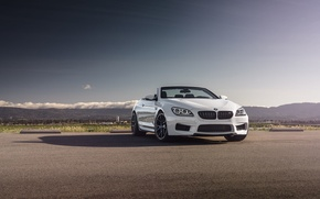Картинка BMW, Sky, Front, White, Forged, Convertible, Wheels, Strasse