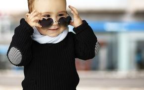 Картинка дети, стиль, сердце, ребенок, style, heart, street, смешно, child, funny, children, kid, sunglasses, солнцезащитные очки