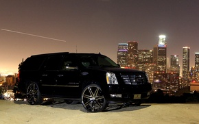 Обои escalade, black, cadillac