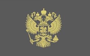 Картинка Минимализм, Обои На Рабочий Стол, Герб Российской Федерации