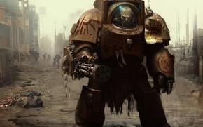 Картинка оружие, доспехи, броня, space marine, warhammer 40k, космодесантник
