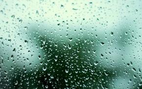 Картинка грусть, гроза, стекло, вода, капли, весна, Дождь, размытый