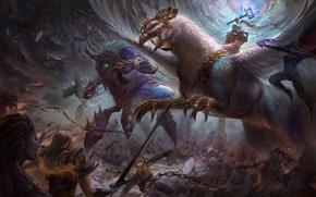 Картинка starcraft, diablo, warcraft, arthas, Zeratul, sarah kerrigan, Sylvanas, Heroes of the Storm, moba, Anub'arak, Falstad