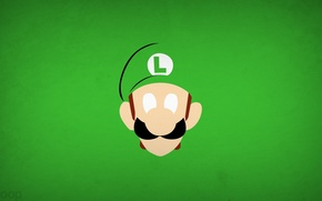 Обои игра, минимализм, Luigi, blo0p, Super Mario