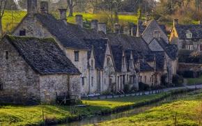 Картинка Англия, деревня, городок, Bibury, Глостершир