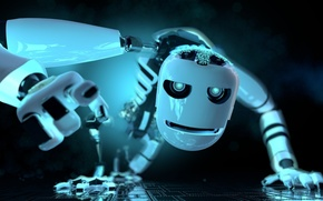 Картинка белый, робот, фэнтези, white, robot