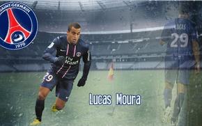 Картинка wallpaper, sport, stadium, football, player, Paris Saint-Germain, Lucas Moura