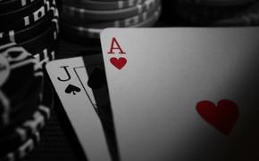 Картинка макро, фишки, казино, игральные карты, blackjack, блэкджек