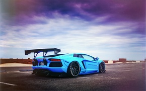 Картинка Lamborghini, LP700-4, Aventador, Blue Shark, Liberty Walk Performance