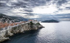 Обои море, Dubrovnik, Хорватия, Дубровник, панорама, Croatia, пейзаж