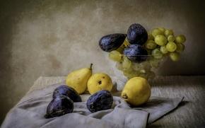 Обои натюрморт, фрукты, фон