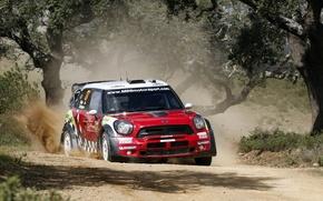 Картинка Mini, Cooper, Пыль, WRC, Rally, Ралли, Мини, Sordo