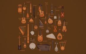 Обои инструменты, струнные, музыкальные