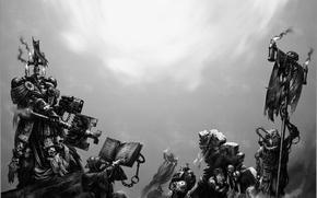 Обои space marine, warhammer 40k, bolter, black templars