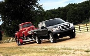 Обои ford, прицеп, truck, f150