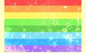 Обои цвет, радуга, Полоски