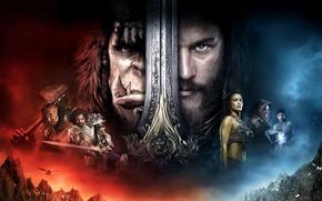 Обои Girl, Fantasy, Warcraft, Orc, Legendary Pictures, Men, Lion, Paula Patton, EXCLUSIVE, Lady, Sword, Human, King, ...