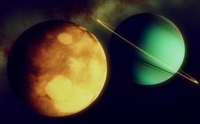 Картинка космос, планеты, пояс